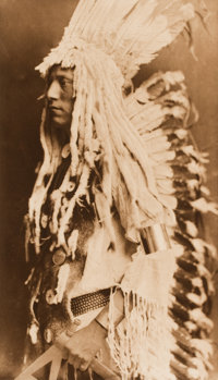 EDWARD SHERIFF CURTIS (American, 1868-1952) The North American Indian: Old Person - Piegan, plate 204