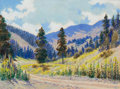 Texas:Early Texas Art - Regionalists, LEWIS TEEL (American, 1883-1960). Pair: Down Cox Canyon andCatalimas Arizona . Oil on board . 4-1/2 x 6 inches (11.4 x ...(Total: 2 Items)