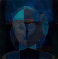 Texas, KELLY FEARING (American, b.1918). Abstract Figure. Oil oncanvas. 8 x 8 inches (20.3 x 20.3 cm). ...