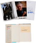 Movie/TV Memorabilia:Autographs and Signed Items, Charlton Heston Signed Items.... (Total: 3 )