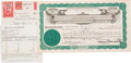 Movie/TV Memorabilia:Autographs and Signed Items, Samuel Goldwyn Signed Stock Certificate....
