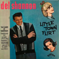 Music Memorabilia:Autographs and Signed Items, Del Shannon Autographed Little Town Flirt Album Cover....