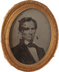 Political:Ferrotypes / Photo Badges (pre-1896), Abraham Lincoln: A Large George Clark Ambrotype from the 1860Election....