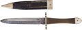 Western Expansion:Indian Artifacts, Important Presentation Knife Given To White Swan, Crow Scout Who Survived His Wounds Suffered At Little Bighorn. ...