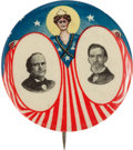 Political:Pinback Buttons (1896-present), Bryan & Kern: One of the Most Beautiful and Colorful JugateDesigns of the 1908 Election. ...