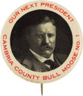 Political:Pinback Buttons (1896-present), Theodore Roosevelt: Perhaps the Top Single-Portrait Button from His 1912 Bull Moose Campaign. ...