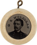 Political:Ferrotypes / Photo Badges (pre-1896), George B. McClellan: Perhaps the Most Singular Campaign FerrotypeWe Have Ever Handled!...