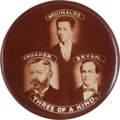 Political:Pinback Buttons (1896-present), William Jennings Bryan: A Classic Anti-Bryan Rarity from the 1900 Campaign....