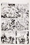 Original Comic Art:Panel Pages, Jack Kirby and Paul Reinman The Avengers #5 page 18 Original Art (Marvel, 1964)....