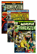 Bronze Age (1970-1979):Horror, Frankenstein Western Penn pedigree Group (Marvel, 1973-75)Condition: Average VF+.... (Total: 12 Comic Books)