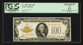 Small Size:Gold Certificates, Fr. 2405 $100 1928 Gold Certificate. PCGS Apparent Fine 12.. ...