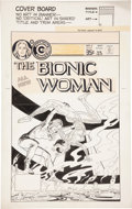Original Comic Art:Covers, Jack Sparling The Bionic Woman #4 Cover Original Art(Charlton, 1978)....