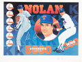 Baseball Collectibles:Others, Nolan Ryan Signed Artist Proof Lithograph....