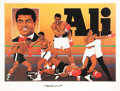 Boxing Collectibles:Autographs, Muhammad Ali Signed Lithograph....