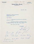 Autographs:U.S. Presidents, John F. Kennedy: 1960 Typed Letter Signed, Dealing with CivilRights, with a Holograph Postscript....