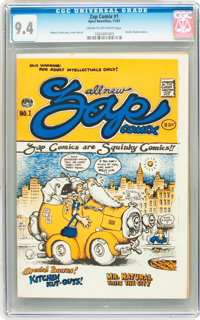 Zap Comix #1 (First Printing - Plymell) (Apex Novelties, 1967) CGC NM 9.4 Cream to off-white pages