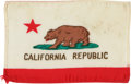 Explorers:Space Exploration, Apollo 14 Flown State Flag of California Directly from the PersonalCollection of Mission Lunar Module Pilot Edgar Mitchel...
