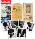 Autographs:U.S. Presidents, John F. Kennedy: Signed Campaign Brochure and other Souvenirs froma Stopover in Wisconsin. ...