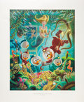 Original Comic Art:Miscellaneous, Carl Barks The Makings of a Fish Story Regular EditionLithograph #77/345 (Another Rainbow, 1985).... (Total: 2 Items)