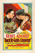 "Movie Posters:Action, Back to God's Country (Universal, 1927). One Sheet (27"" X 41"").. ..."