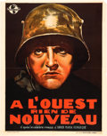 "Movie Posters:Academy Award Winners, All Quiet on the Western Front (Universal, R-1938). Pre-War Belgian(24"" X 33"").. ..."