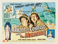 """Movie Posters:Comedy, Abbott and Costello Meet the Mummy (Universal International, 1955).Half Sheet (22"""" X 28"""") Style A.. ..."""