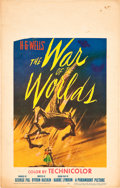 """Movie Posters:Science Fiction, The War of the Worlds (Paramount, 1953). Window Card (14"""" X 22"""")....."""