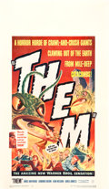 "Movie Posters:Science Fiction, Them! (Warner Brothers, 1954). Window Card (14"" X 22"").. ..."
