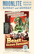"""Movie Posters:Science Fiction, The Beast from 20,000 Fathoms (Warner Brothers, 1953). Window Card(14"""" X 22"""").. ..."""