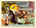 """Movie Posters:Science Fiction, The Land Unknown (Universal International, 1957). Half Sheet (22"""" X28"""") Style B.. ..."""