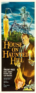 "Movie Posters:Horror, House on Haunted Hill (Allied Artists, 1959). Insert (14"" X 36"")....."