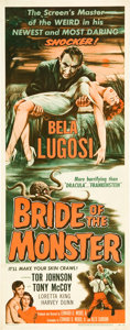 "Movie Posters:Horror, Bride of the Monster (Filmmakers Releasing, 1956). Insert (14"" X36"").. ..."