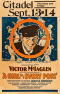 "Movie Posters:Comedy, A Girl in Every Port (Fox, 1928). Window Card (14"" X 22"").. ..."
