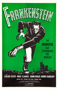 "Movie Posters:Horror, Frankenstein (Universal, R-1960s). One Sheet (27"" X 41"").. ..."