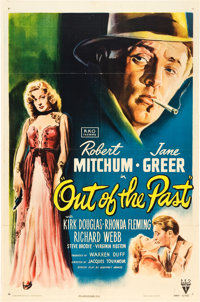 """Out of the Past (RKO, 1947). One Sheet (27"""" X 41"""")"""