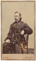 Autographs:Military Figures, George Armstrong Custer: A Rare Imprinted Mathew Brady Carte de Visite, Boldly Autographed in Ink by Custer on Ver...