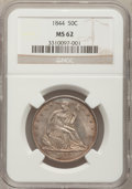 Seated Half Dollars: , 1844 50C MS62 NGC. NGC Census: (15/22). PCGS Population (8/28).Mintage: 1,766,000. Numismedia Wsl. Price for problem free ...