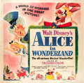 "Movie Posters:Animation, Alice in Wonderland (RKO, 1951). Six Sheet (81"" X 81"").. ..."