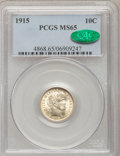 Barber Dimes: , 1915 10C MS65 PCGS. CAC. PCGS Population (51/8). NGC Census:(40/8). Mintage: 5,620,450. Numismedia Wsl. Price for problem ...