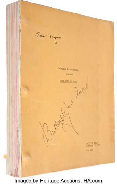 Gone With The Wind Final Shooting Script Signed By Lot 46055