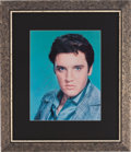 Music Memorabilia:Autographs and Signed Items, Elvis Presley Framed Photo Inscribed to George Klein (1958)....(Total: 2 Items)