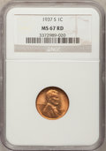 1937-S 1C MS67 Red NGC. NGC Census: (374/0). PCGS Population (152/0). Mintage: 34,500,000. Numismedia Wsl. Price for pro...