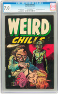 Golden Age (1938-1955):Horror, Weird Chills #1 (Key Publications, 1954) CGC FN/VF 7.0 Off-white towhite pages....