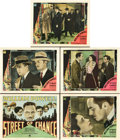 "Movie Posters:Drama, Street of Chance (Paramount, 1930). Title Lobby Card and LobbyCards (4)(11"" X 14"").. ... (Total: 5 Items)"