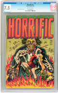 Golden Age (1938-1955):Horror, Horrific #1 (Comic Media, 1952) CGC VF- 7.5 Off-white pages....