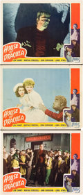 """Movie Posters:Horror, House of Dracula (Realart, R-1950). Lobby Cards (3) (11"""" X 14"""")..... (Total: 3 Items)"""