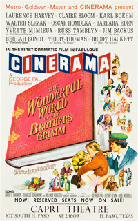 "The Wonderful World of the Brothers Grimm (MGM, 1962). Cinerama Midget Window Card (9"" X 14.5"")"