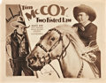 "Movie Posters:Western, Two Fisted Law (Columbia, 1932). Half Sheets (2) (22"" X 28"").. ...(Total: 2 Items)"