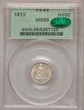 Seated Half Dimes, 1872 H10C MS66 PCGS. CAC....