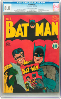 Batman #8 (DC, 1942) CGC VF 8.0 Off-white to white pages
